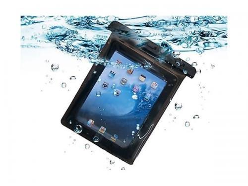 3重防御で水の侵入を防ぐ! ストラップ付き iPad用 ソフト防水ケース