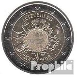 Luxemburgo 2012 Stgl./unzirkuliert 2012 2 Euro 10 años Euro Efectivo (monedas para los coleccionistas)