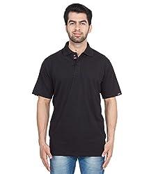 Gio Men's Cotton T-Shirt (AMZ_AMP_172_Black_Large)