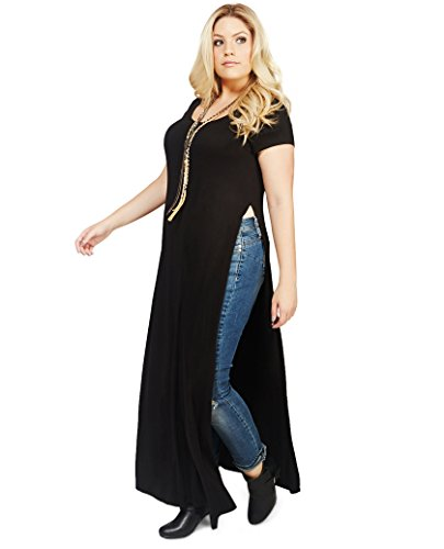 Wet Seal Women'S High Slit Maxi Dress 1X Black