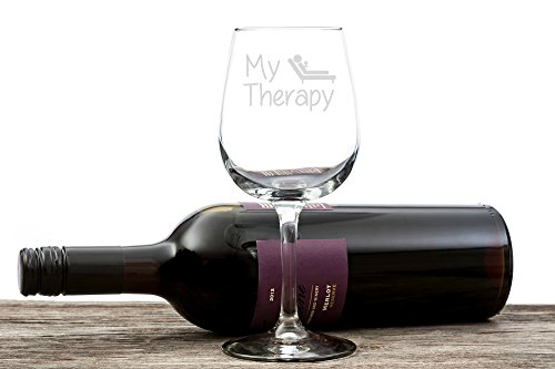 My Therapy Funny Wine Glass 13 oz - Best Christmas Gifts ...