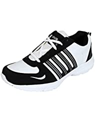 Smithsoul Black & White Running Sports Shoes