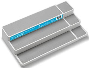 Madesmart 3.6 by 9.6 by 14-1/2 to 25-3/4 Inch Expandable Shelf Organizer