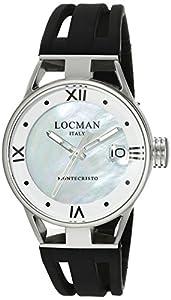 Locman Italy Women's 0521V02-00MA00SK Montecristo Lady Analog Display Quartz Black Watch