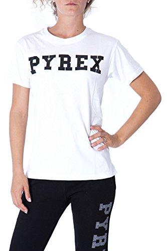pyrex-t-shirt-donna-stampata-regular-fit-33008-m-bianco