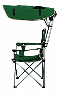 Quik Shade Folding Canopy Chair Green