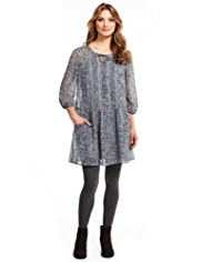 Indigo Collection Floral Tunic Dress with Camisole