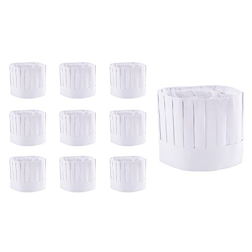 disposable-9-paper-chef-tall-hat-set-for-home-kitchen-food-restaurants-classes-10-pack-by-super-z-ou