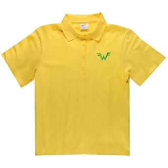 Amazon com weezer logo polo shirt clothing