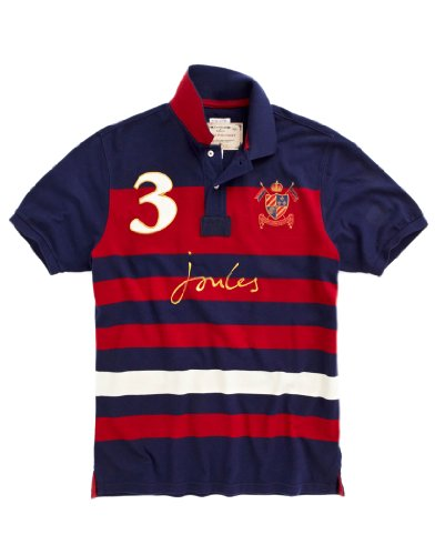 Joules Men's Latino Polo Shirt - Red N_LATINO - S