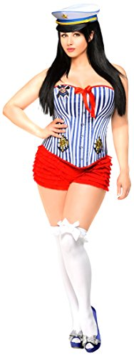 Daisy Corsets Women's 3 Piece Pin-Up Sailor Girl Costume