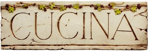 Cucina wall plaque for Italian and Tuscan Kitchen decorating