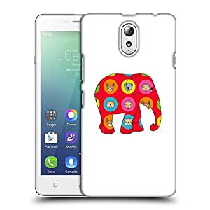 Snoogg Red Elephant Designer Protective Back Case Cover For LENOVO P1