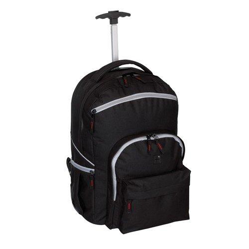 Rucksack Trolley Comfort schwarz mit Schutzabdeckung