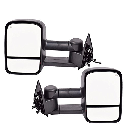 DEDC Towing Mirrors Chevy Silverado 1500 2500 3500 Side View Mirrors For 2003-2006 Chevy Silverado GMC Sierra Power Heated Foldable Pair (2003 Chevy Truck Tow Mirrors compare prices)