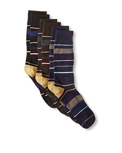 Florsheim by Duckie Brown Men's Striped Socks - 3 Pack