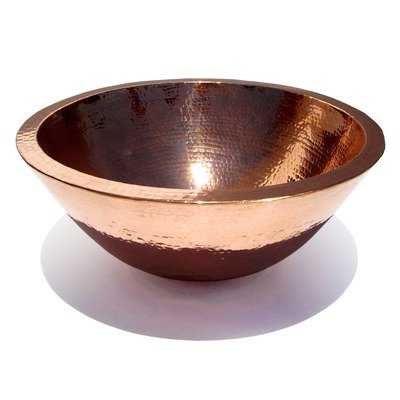 Plain Hammered Copper Double Wall Vessel Sink Finish: Dark Smoke Copper