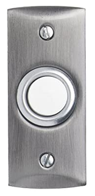 Heath Zenith 932-C Traditional Décor Wired Push Button, Solid Brass with Satin-Nickel Finish