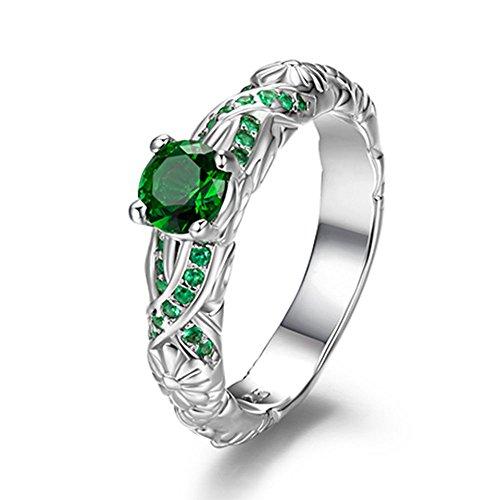 Harry Potter Serpeverde Anello Verde anello di cristallo 6