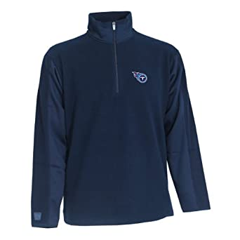 NFL Mens Tennessee Titans 3 4 Zip Fleece Pullover by Antigua