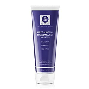 OZ Naturals - The BEST Body Butter - This Natural and Organic Body Moisturizer Contains Sweet Almond & Macadamia Nut - A Rich & Luxurious Skin Moisturizer Will Provide Your Body With That Healthy Vibrant Glow!