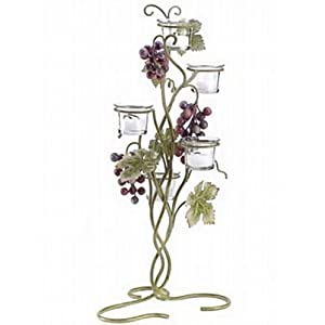 "15 GRAPEVINE VOTIVE STAND WEDDING CENTERPIECES 19"" TALL"