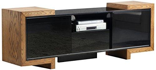 Furnitech Signature Home Collection Tv Media Console, 75-Inch, Honey Oak