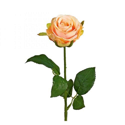 Deko Rose mit Wasserstiel, rosa, 47,5 cm (1 Stück)