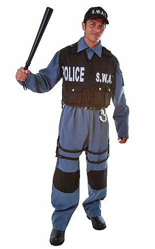 SWAT Police Officer Adult Halloween Costume Size X-Large (XL)