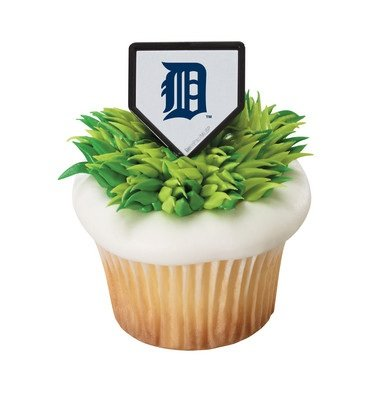 MLB Detroit Tigers Cupcake Rings - 24 pcs - 1