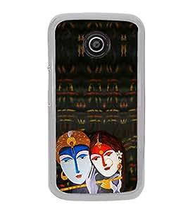 Radha Krishna 2D Hard Polycarbonate Designer Back Case Cover for Motorola Moto E2 :: Motorola Moto E Dual SIM( 2nd Gen) :: Motorola Moto E 2nd Gen 3G XT1506 :: Motorola Moto E 2nd Gen 4G XT1521