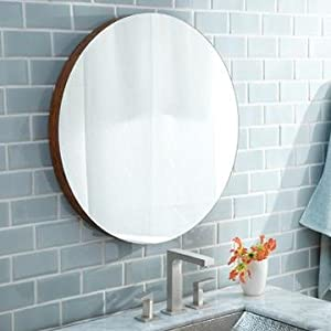 """Native Trails MSH282 Native Trails MSH282 Solace 28"""" Woven Strand Bamboo Wall Mounted Mirror Shelf, Woven Strand Bamboo"""