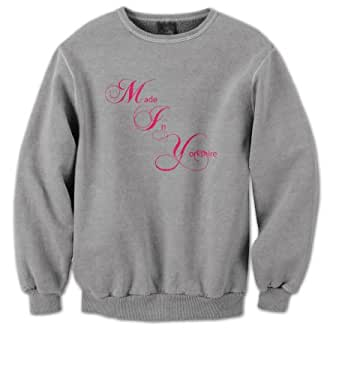 Made In Yorkshire Mens Sweater (Pink on Grey) (XX-Large)