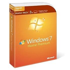 Microsoft Windows 7 Home Premium Upgrade Family Pack (3-User)