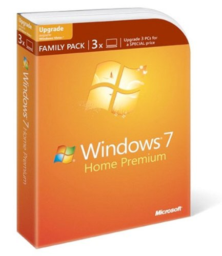 Microsoft Windows 7 Home Premium Upgrade Family