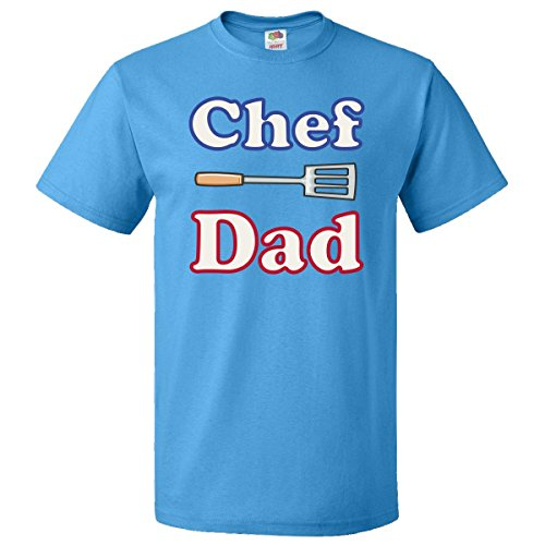 Inktastic Chef Dad White T-Shirts Large Pacific Blue