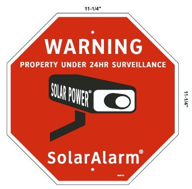 SECURITY SIGN - 1 Home & Commercial Security, Surveillance Video CCTV Warning! Deterrence Sign & 4 Decal Stickers