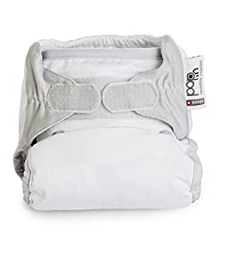 Close Pop-In + Snowball Bamboo Single Nappy (30 Months, White)