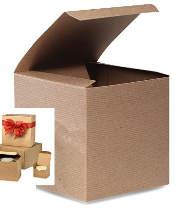 Bundleofbeauty Item#101125 10 Count 6 X 6 X 4 Kraft Decorative Gift Boxes