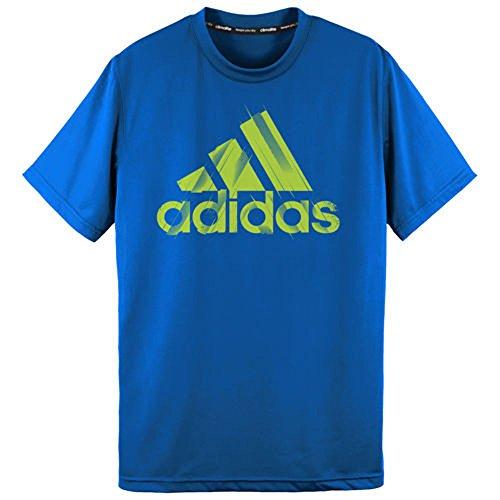 Adidas Boys 8-20 Climalite¨ Athletic Shirt (X-Large / 18, Blue Slime Tread)