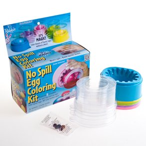 No Spill Egg Coloring Kit Magical!!! 5 incredible colors & Cups - 1