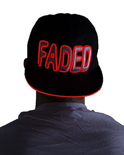 Light Up Hat - Faded (Red)