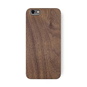 iATO Walnut Wood case 'Marco Polo' for iPhone 6 & iPhone 6S (4.7 inch) - real natural genuine wooden slim cases as premium accessories for the original Apple iPhone 6/6S