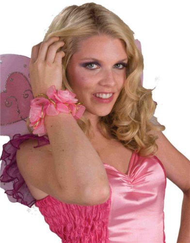 Pink Flower Pixie Fairy Costume Accessory Bracelet Anklet Hair Scrunchy