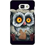 AMAN Owl Art 3D Back Cover For Samsung Galaxy A7 2016