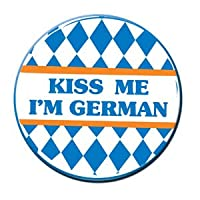 Kiss Me I'm German Button Party Accessory (1 count) (1/Pkg) from Beistle