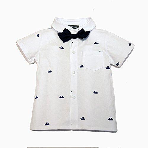 Ferenyi US Baby Boys Bowtie Gentleman Romper Jumpsuit Overalls Rompers (0-6 months , Navy blue)