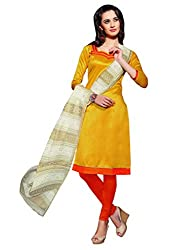 Varanga Yellow Exclusive Dress Material with embroidery Fancy Dupatta KFPVTR1002