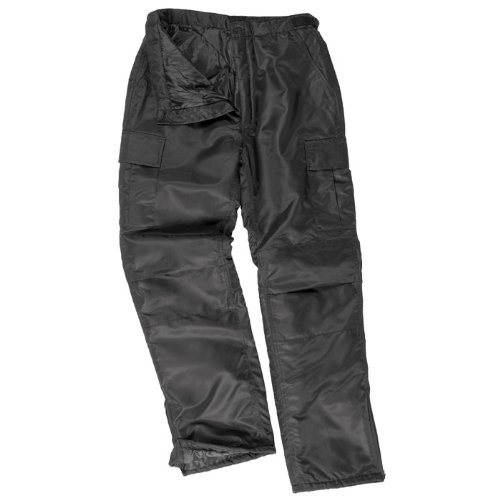 US MA1 Warm Thermal Combat Work Mens Cargo Trousers Black