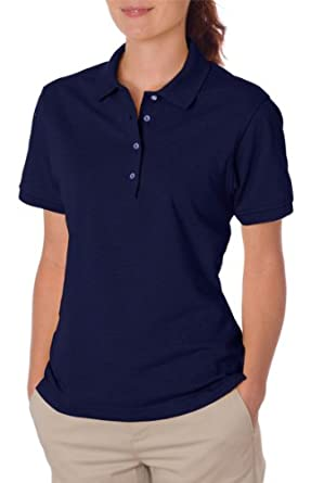 Jerzees Women's Short Sleeve 5.6 oz 50/50 Jersey Polo Shirt with SpotShield 437W blue Small
